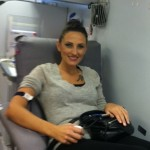Esthetician Siobhan and Megan came out to donate blood at the Rex Bloodmobile at Tir Na nOg Irish Pub in Raleigh