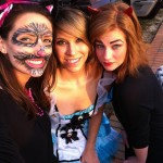 Siobhan, Ariane, and Reverlie at Trunk or Treat