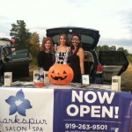 Larkspur and other local businesses handed out candy to dozens of adorable kids at Wakefield's Trunk-or-Treat
