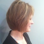 After (profile): Short layers give volume to the back, while longer layers in the front lend a great shape to her hair.  One of our favorite hair transformations!